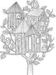 butterfly tree coloring coloring pages
