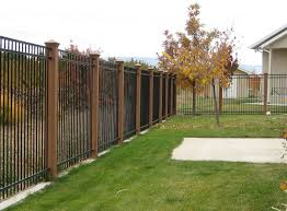 style and protection with black metal fence u2014 home ideas collection