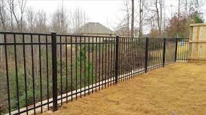 black aluminum fence cost home gardens