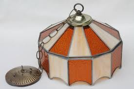 Retro Hanging Light Fixtures Leaded Glass Shade Light Fixture Stained Glass Pendant