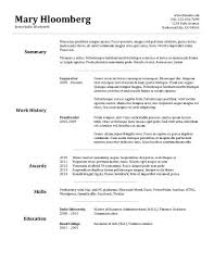 Template For A Good Resume Template For Resume Berathen Com