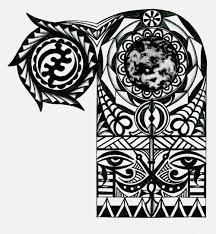 maori sleeve adinkra african warrior tribal half sleeve tattoo tattoo