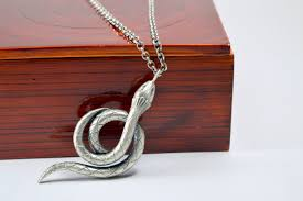 sterling silver snake necklace images Sterling silver snake pendant necklace year of the snake jpg