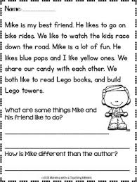 reading passage 1st grade grade reading passages identifying and vowel words