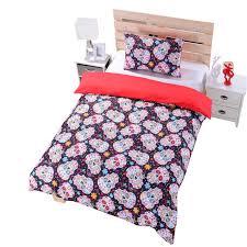 Cheap Bed Linen Uk - online shop new sugar skull bedding duvet cover set twin full