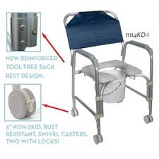 rolling shower commode chair drive medical 11114kd 1