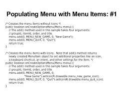 android oncreateoptionsmenu android ui menu