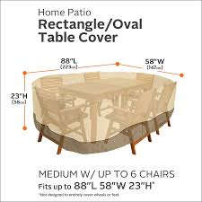 Amazon Patio Furniture Covers by Amazon Com Classic Accessories Veranda Rectangular Oval Patio