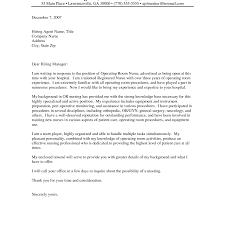 Operating Room Nurse Resume Resume Cover Letter For Nurses Cover Letter Database