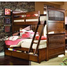 The Brick Bunk Beds Furniture Brown Polished Wooden Bunk Beds With Stairs And