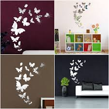 diy mirror acrylic wall sticker home removable mural decal art detail image
