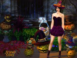 jennisims downloads sims 4 decoration happy halloween s4