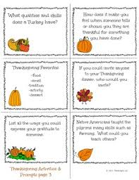 thanksgiving conversation starters and writing prompts prompts