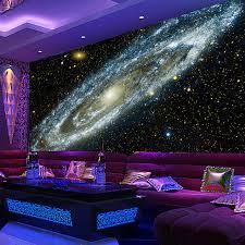 plafond chambre étoilé personnalisé toute taille 3d murale papier peint galaxy étoilé