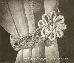 free crochet patterns for home decor flower curtain tie back home decor crochet patterns