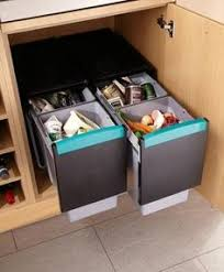 the wesco shorty internal waste bin with two bin compartments has
