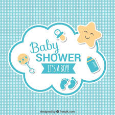 baby shower baby shower card vector free