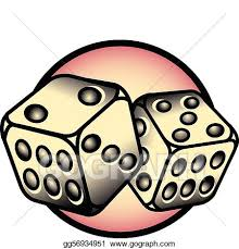 vector art tattoo design lucky 7 dice clip art eps clipart