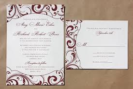 wedding invitations burgundy burgundy swirl pattern with shaped frame wedding invitations