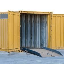 bluff steel shipping container ramp 60x60