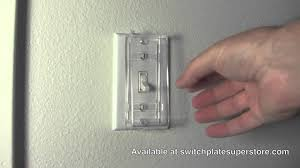 clear light switch cover clear view switch guard youtube