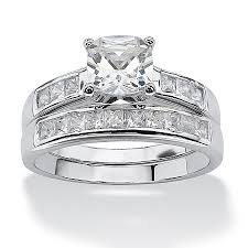 princess cut cubic zirconia wedding sets the never fail elegance of this cubic zirconia two wedding