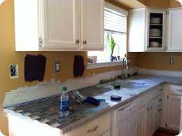 how to install kitchen backsplash clients went diy to install a ky bottle cap backsplash