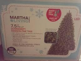 brand new martha stewart living 7 5 ft pre lit tree with