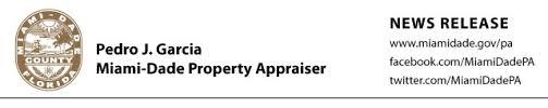miami dade county property appraiser news release