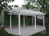 White Vinyl Pergola by Freestanding Vinyl Pergola Kit Project Gallery Heartland Pergolas
