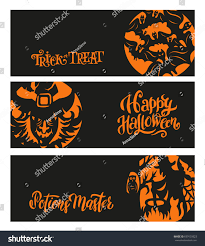 Happy Halloween Banners by Set Happy Halloween Banners Cards Scary Stock Vector 659159323