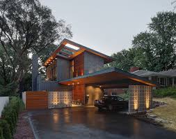 Attached Carport Plans Milwaukee Attached Carport Plans Exterior Midcentury With Slanted