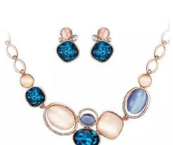 necklace with blue stone images Blue stone gemstone necklace graceful accessories jpg