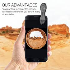 cuisine plus lens 3 in 1 smartphone lens kit with universal clip 230 degree