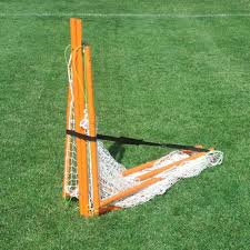 cage brave folding backyard lacrosse goal with shot blocker