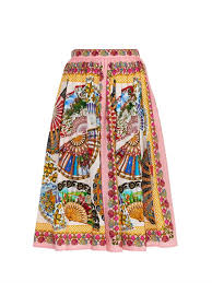 where to buy a fan dolce gabbana fan print full skirt where to buy how to wear