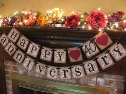 40th wedding anniversary party ideas 40th wedding anniversary favors wedding anniversary party ideas 40th