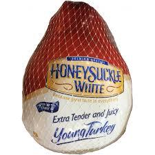 frozen whole turkey honeysuckle white whole frozen turkey 17 19 lbs prestofresh