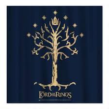 the lord of the rings tree of gondor shower curtain hobbitshop