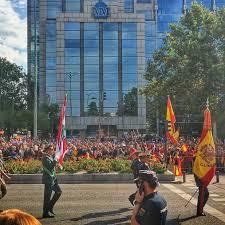The Spain Flag Lebanese Flag The Only Foreign Flag Leading The Spanish Armed
