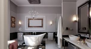 Bathroom  White Waterfall Shower Dark Brown Wood Mirror Dark - Bathroom design concepts