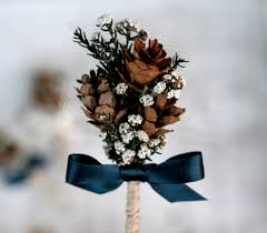 wedding boutonniere woodland pine cone wedding boutonniere