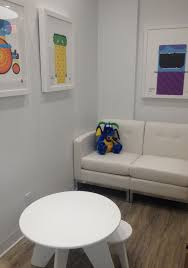 pediatric dentist office waiting room eco friendly interior