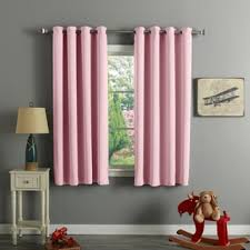 Short Length Blackout Curtains Aurora Home Thermal Insulated Blackout 54 Inch Grommet Top Curtain