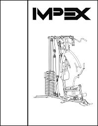 impex home gym mp 2105 user guide manualsonline com