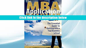 read online the mba application roadmap the essential guide to