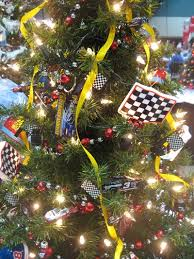 race car tree holiday christmas automotive car theme