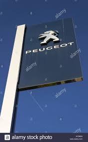 pujot car prague czech republic march 31 peugeot car company logo in