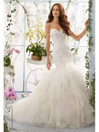 lace mermaid wedding dress mori 5409 lace mermaid wedding dress with flounced organza