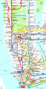 Nyc Mta Map Nyc Subway Map New York For In Manhattan World Maps
